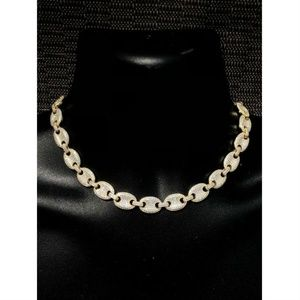 Harlembling 14k Gold Diamond Gucci Choker Chain